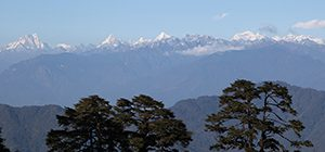 View from Dochula Pass