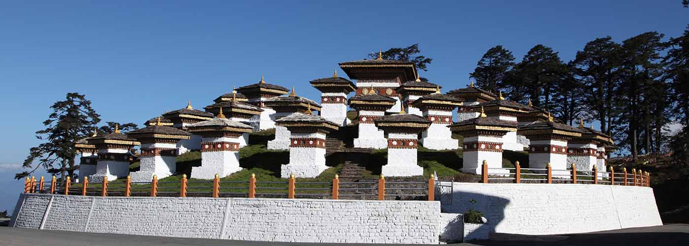 The iconic 108 Chortens at Dochula Pass