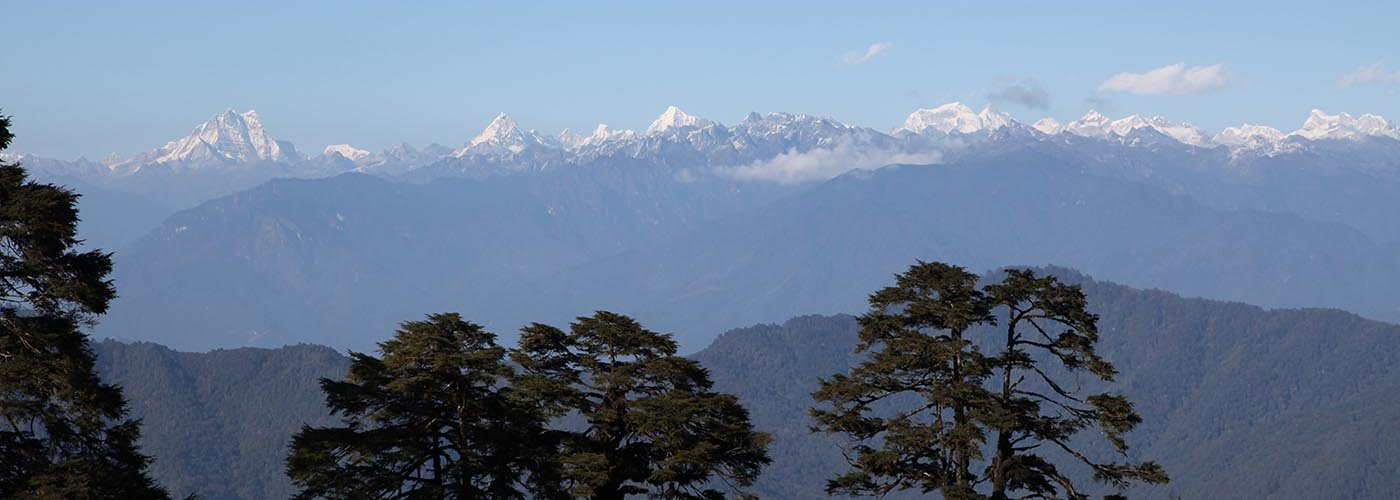 The splendid view of Eastern Himalayas from Dochula Pass